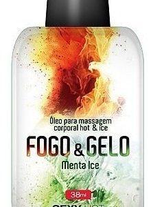 oleo para massagam beijável fogo e gelo - esquenta/esfria